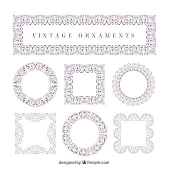 Elegantes pinceles ornamentales púrpuras