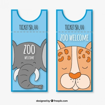 Elephant and tiger zoo entries