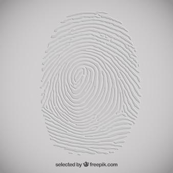 Embossed fingerprint