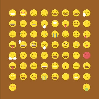 Emoticon icon collection