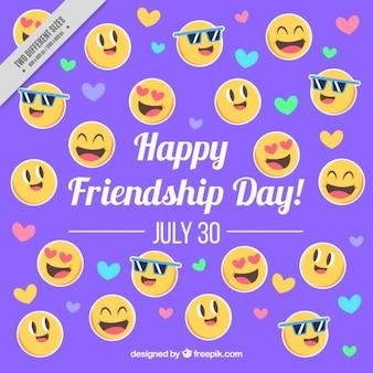 Emoticons friendship day background