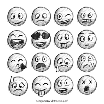 Emoticons sketches