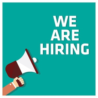 we are hiring sign vector   free download