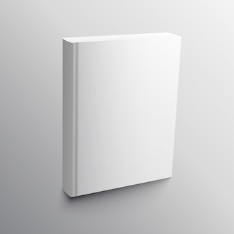 Empty book realistic mockup