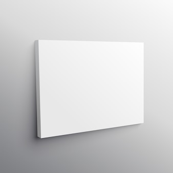 Empty canvas mockup