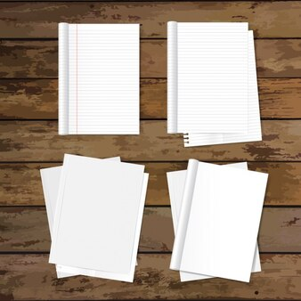 Empty papers design