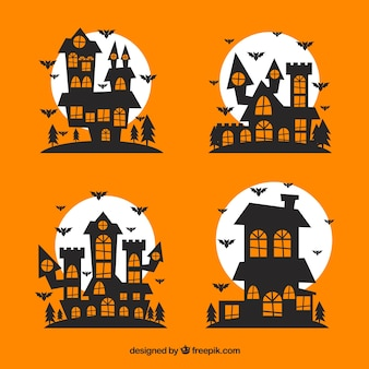 Enchanted halloween houses