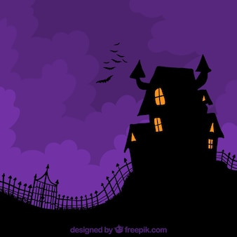 Enchanted house background