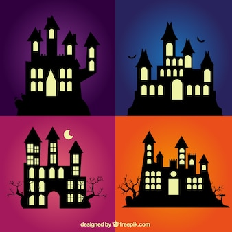 Enchanted house silhouettes