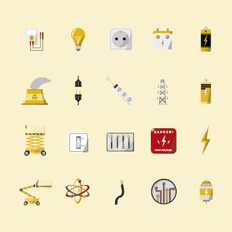 Energy icons collection