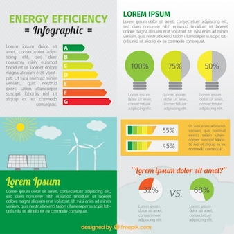 Energy saving with infographic elements