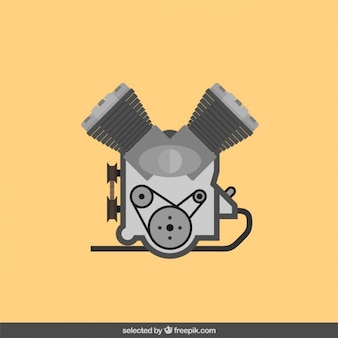Engine in flat design style