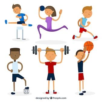 Enjoyable characters doing sports