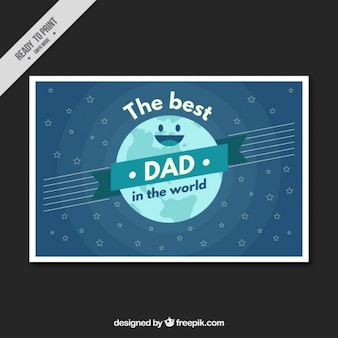 Enjoyable earth card for father's day