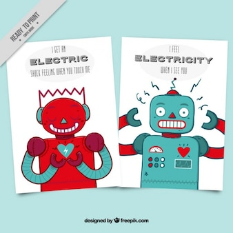 Enjoyable love cards with robots
