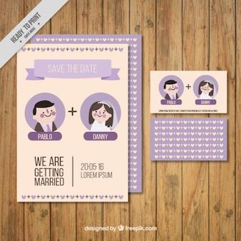 Enjoyable wedding invitation and cards