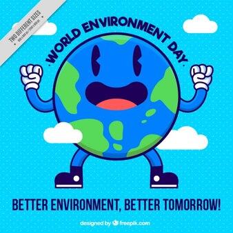 Enjoyable world background of environment day