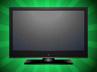 entertainment plasma Flat tv vector