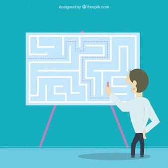 Entrepreneur finding the solution