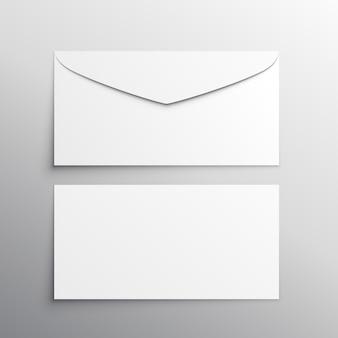 Envelope front and back mockup