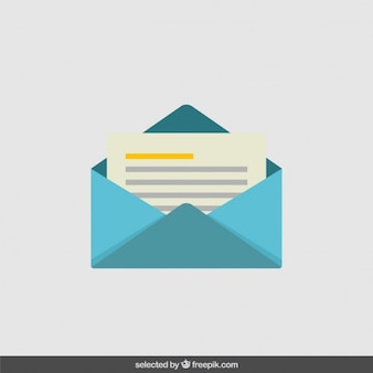 Envelope in flat design style
