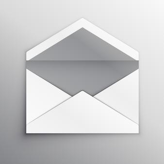 空の封筒裏面現実的なモックアップテンプレート