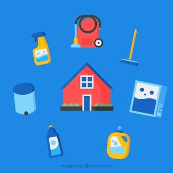 Набор окружающей значок для дома
