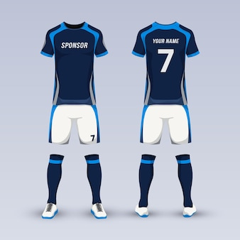 Equipment for soccer sport uniform