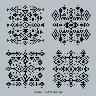 Ethnic abstract geometric tattoo collection