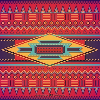 Ethnic background in colorful style