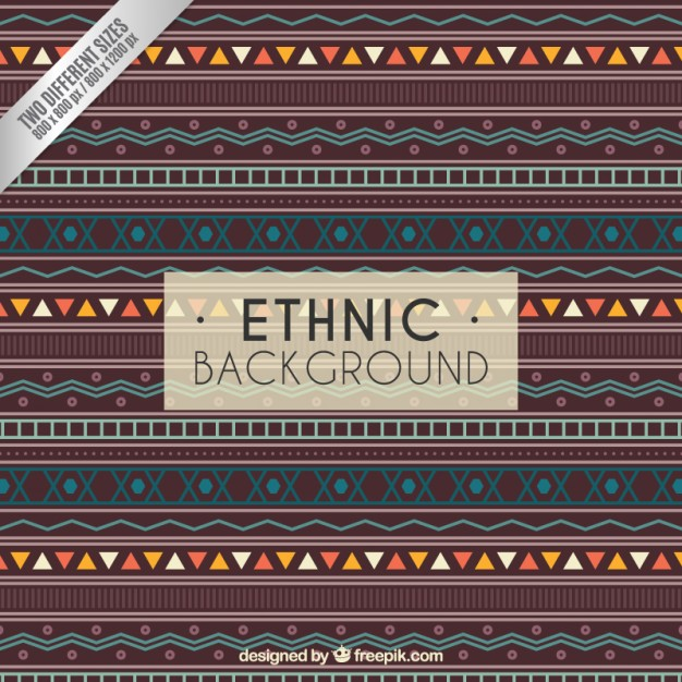 Ethnic background in geometric style
