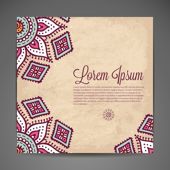 Ethnic background template