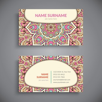 Ethnic business card