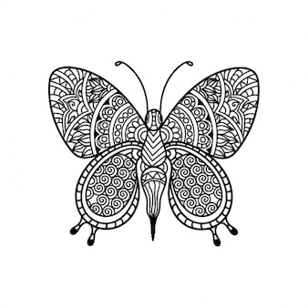 Ethnic butterfly design