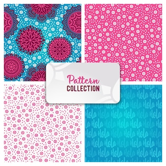 Ethnic floral pattern collection
