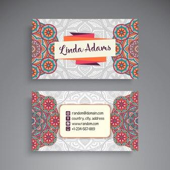 Ethnic mandala business card template