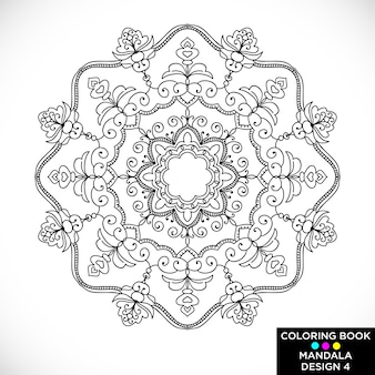 Ethnic mandala for coloring book