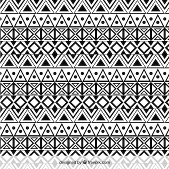 Ethnic monochrome pattern