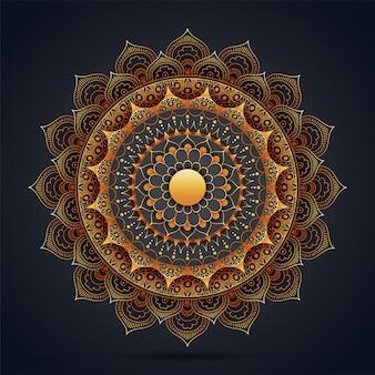 エスニック花曼荼羅の装飾的なデザイン。