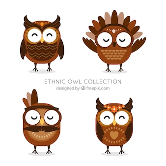 Ethnic owl collection