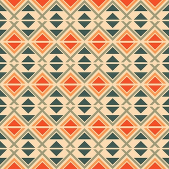 Ethnic pattern with geometric elements