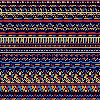 Ethnic pattern with ornamental shapes