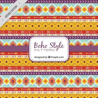 Ethnic shapes pattern in boho style