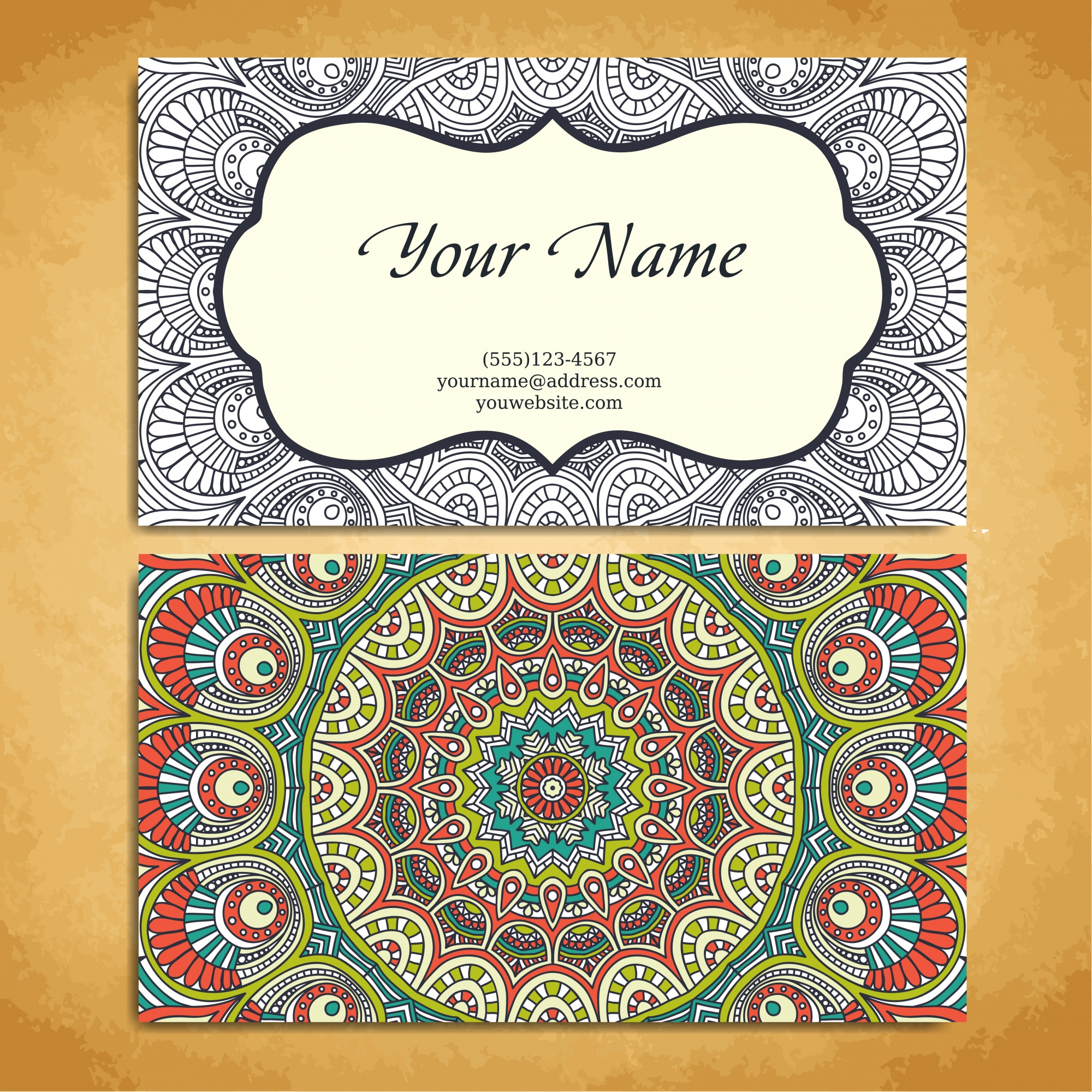 Ethnic style business card