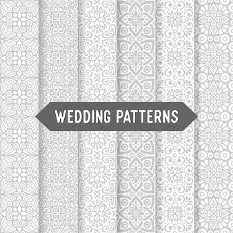エスニック花の結婚式のシームレスパターン抽象的な装飾的なパターン