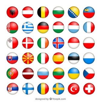 European flags collection