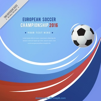 European soccer championship background with waves
