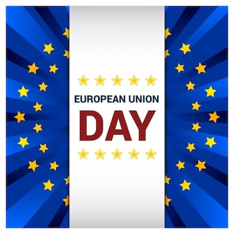 European Union Day Greeting Card