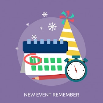 Event remember background design