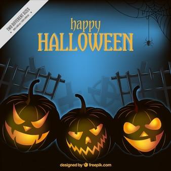 Evil pumpkins for halloween